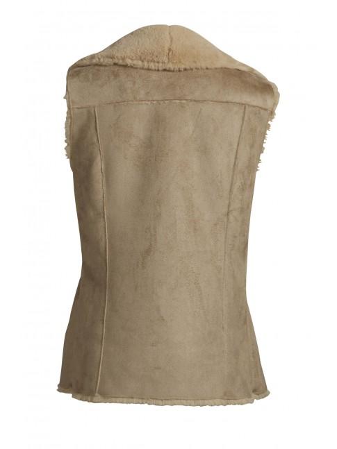 Chaleco con solapas efecto ante interior forrado  VILA CLOTHES