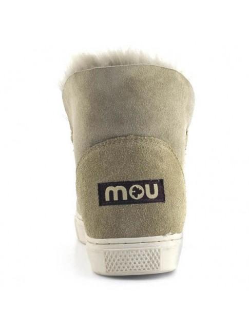 Zapatillas MOU en piel y lana de oveja Sneaker new stitch