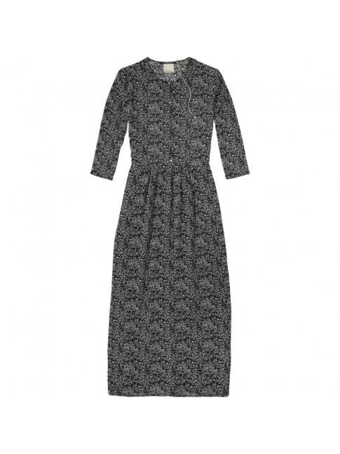 Maxi vestido estampado manga 3/4 con semitransparencias   MAISON SCOTCH