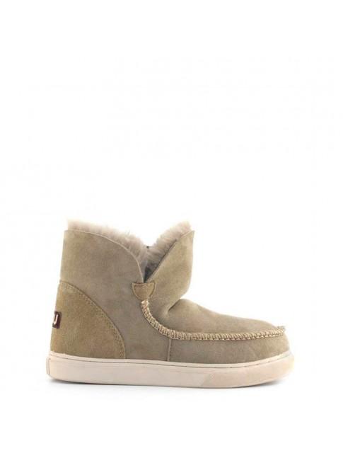 Zapatilla MOU en piel y lana de oveja Sneaker new stitch